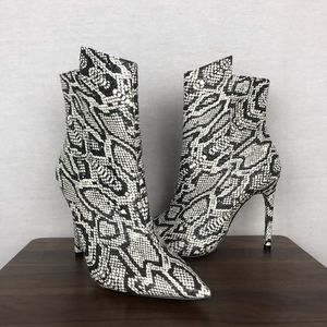 Express Snake Skin Stiletto Heeled Boots